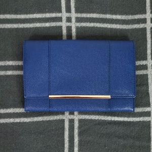 Ivanka Trump Blue Leather Clutch